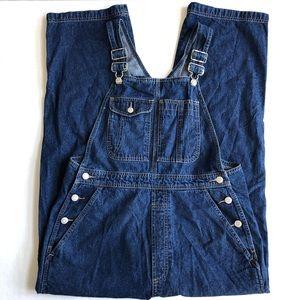 Gap Factory Vintage Overalls Blue Denim Wide Leg M